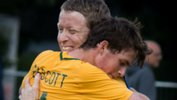 The Pararoos celebrate qualifying for the 2017 IFCPF World Championships.