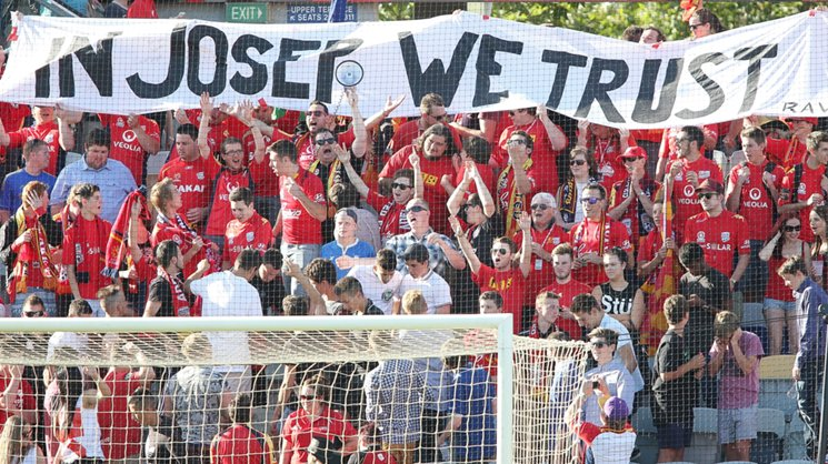 The Red Army voice their support for Adelaide United head coach Josep Gombau.