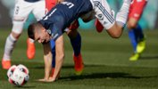 Mitch Austin picks up an injury in Melbourne Victory's win against Atletico Madrid.