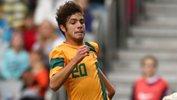 Daniel De Silva in action for the Young Socceroos.