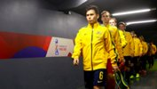 Joeys walk out of the tunnel ahead of their Round of 16 clash with Nigeria