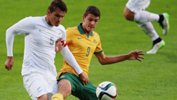 Sydney FC striker George Blackwood scored from the spot in the Young Socceroos' 3-2 loss to Uzbekistan.