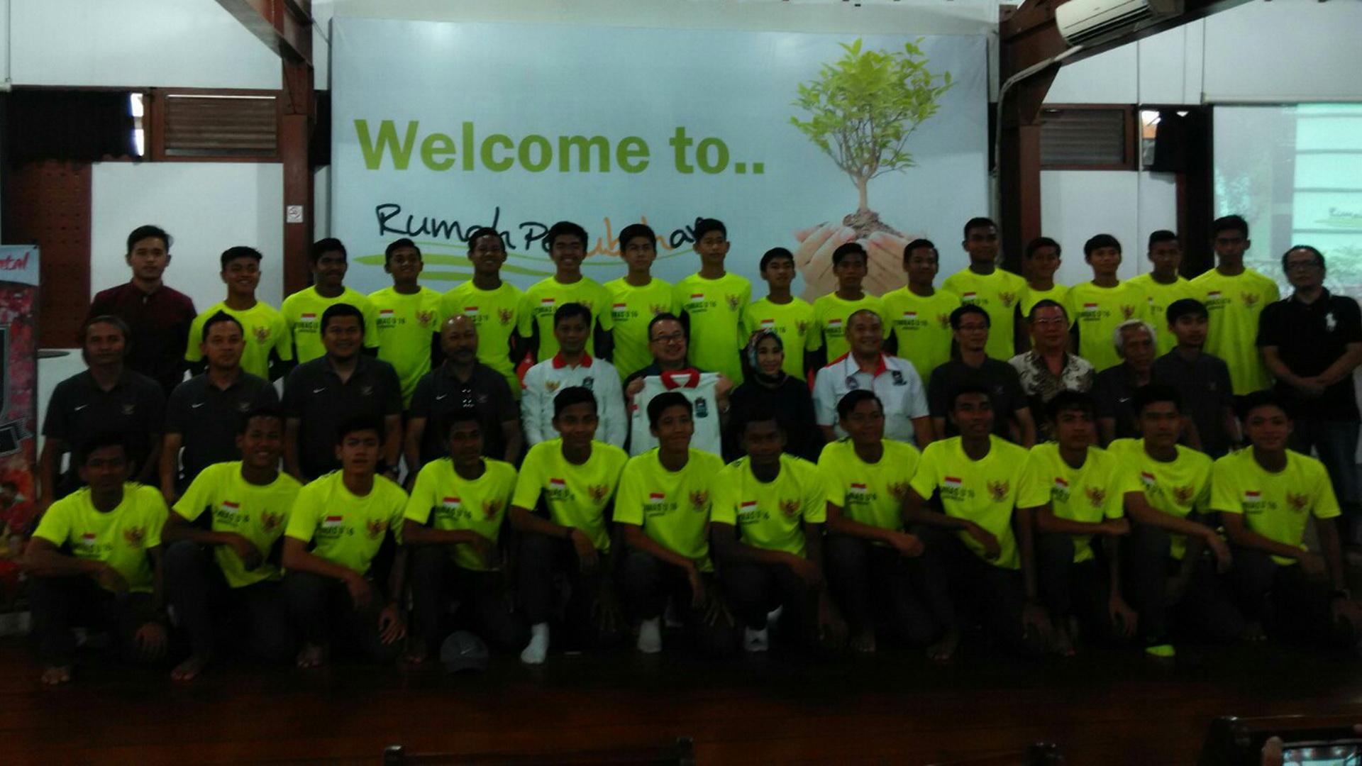 Timnas Indonesia U-16 di Rumah Perubahan