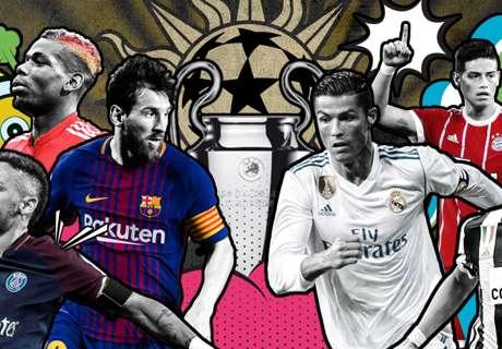 ¿Quiénes desafían el reinado de Messi y Ronaldo en la Champions League?