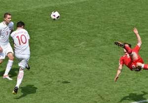 Xherdan Shaqiri's momentous overhead kick to equalise for Switzerland against Poland in Saturday's Euro 2016 last-16 clash has been the goal of the tournament so far and will unlikely be topped in the remainder of the showpiece in France. But how does ...