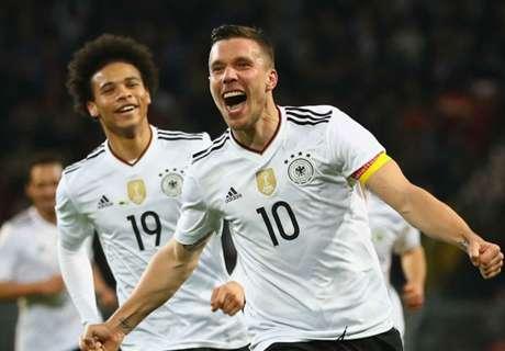 Podolski se despide de Alemania con gol