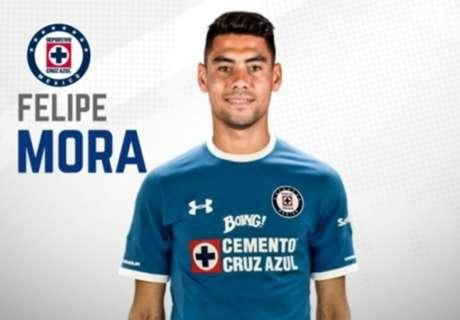 Cruz Azul oficializó el fichaje de Mora