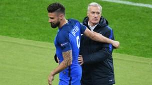Giroud Deschamps France Iceland UEFA Euro 2016 03072016