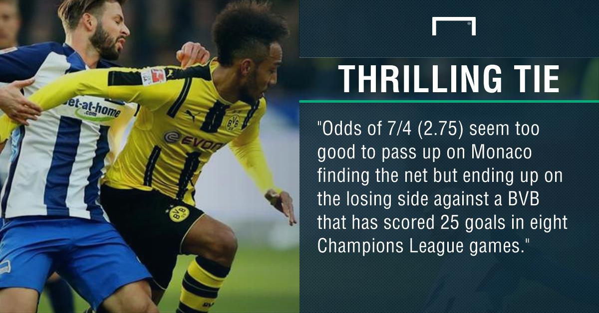 GFX Borussia Dortmund Monaco betting