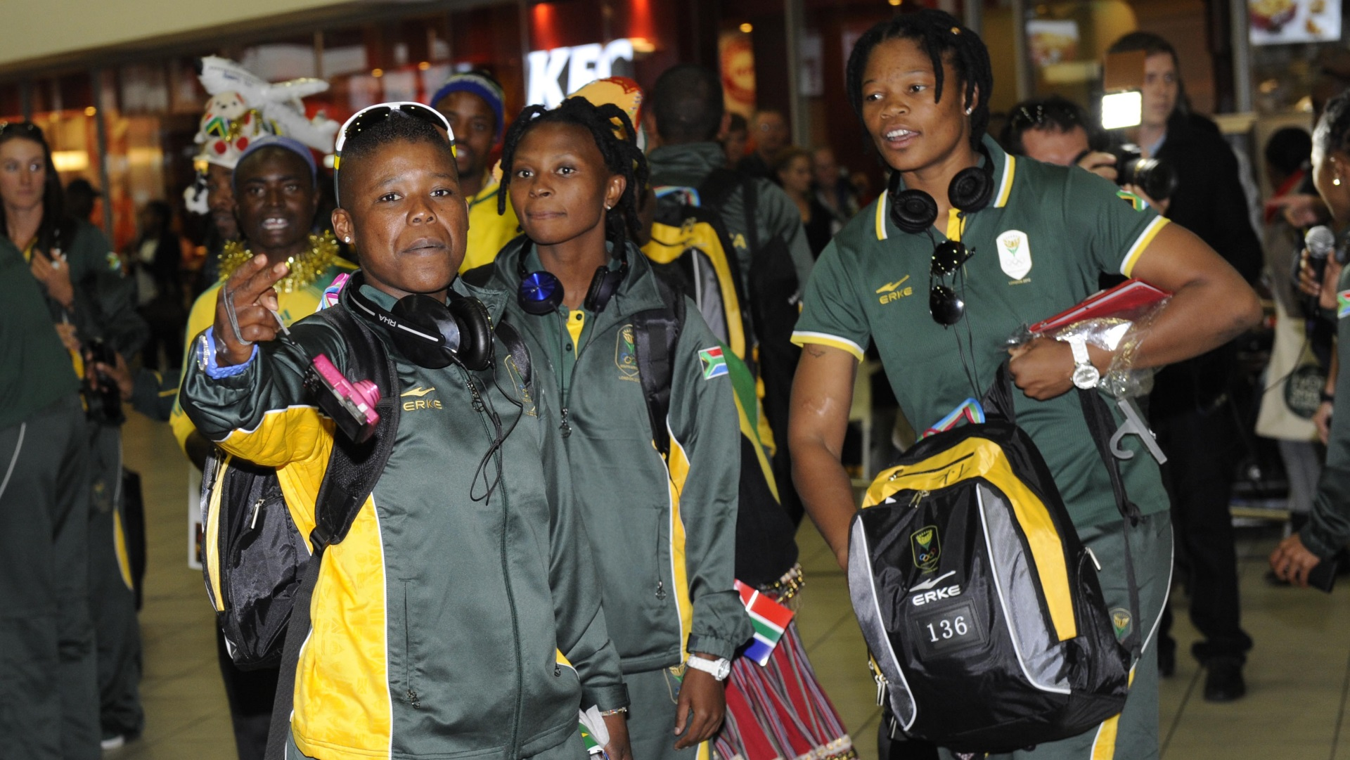Portia Modise and South Africa's Olympic team