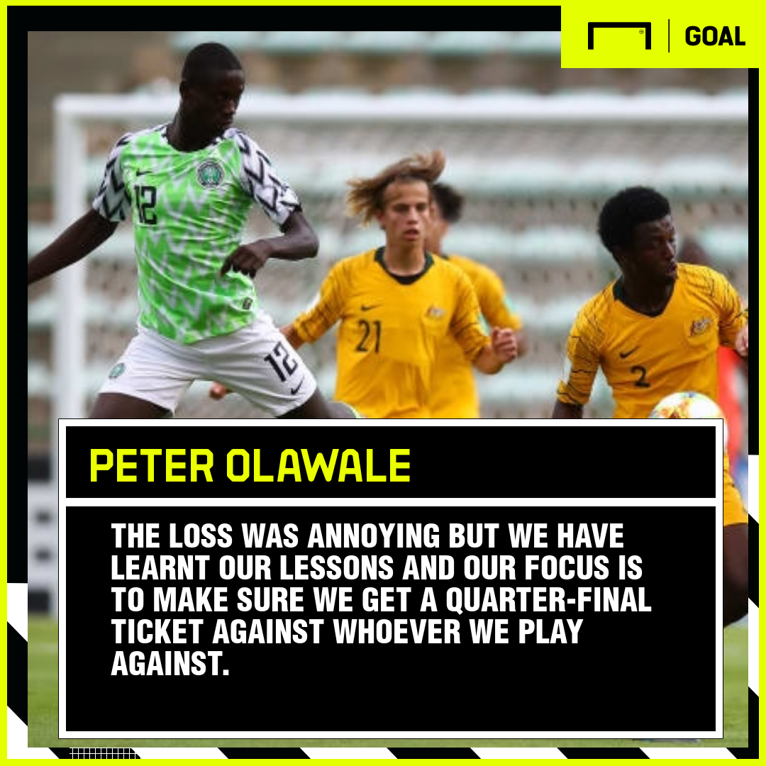 U17 World Cup: 'We've learnt our lessons' – 'Little Ronaldo' Olawale confident Nigeria will bounce back after Australia defeat