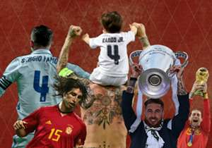 Ein geschrotteter Pokal,16 Rote Karten und Tore für die Ewigkeit: Ramos hat in 11 Jahren Real einen bleibenden Eindruck hinterlassen. Eine Galerie.