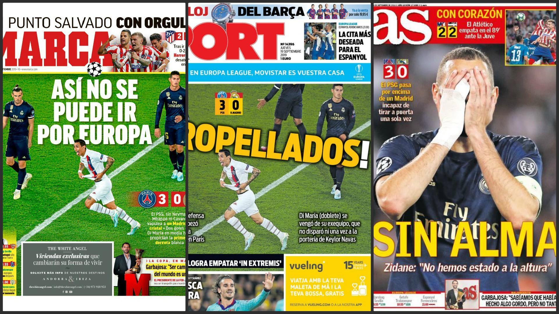 La revue de presse après PSG - Real Madrid (3-0)