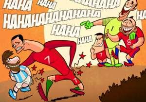 Cile sukses mempermalukan dua bintang sepakbola terbesar saat ini, Lionel Messi dan Cristiano Ronaldo. Nama pertama ditendang pada partai final Copa America dua tahun beruntun (2015 & 2016), sementara Ronaldo menjadi korban terbaru Cile setelah Portuga...