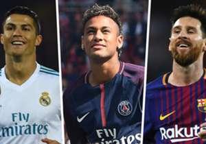 Poznato je da nogometaši zarađuju velik novac, no tko je od njih najviše u 2017. godini? Ovo je top 20 prema Forbesu, uključujući kompletnu zaradu, ne samo plaću