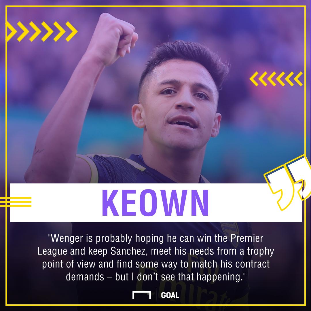 Alexis Sanchez Martin Keown Arsenal