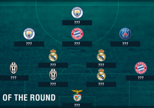 The first legs of the Champions League round of 16 brought a gluttony of goals and shocks with many stand out performances from some of Europe's best players. Here is Goal's XI of the round, powered by Opta data