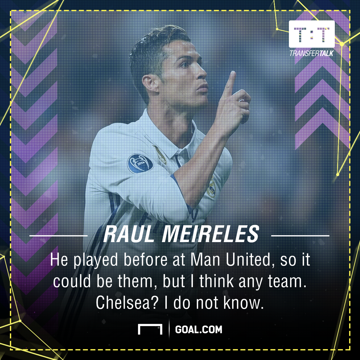Cristiano Ronaldo Raul Meireles Man Utd Chelsea