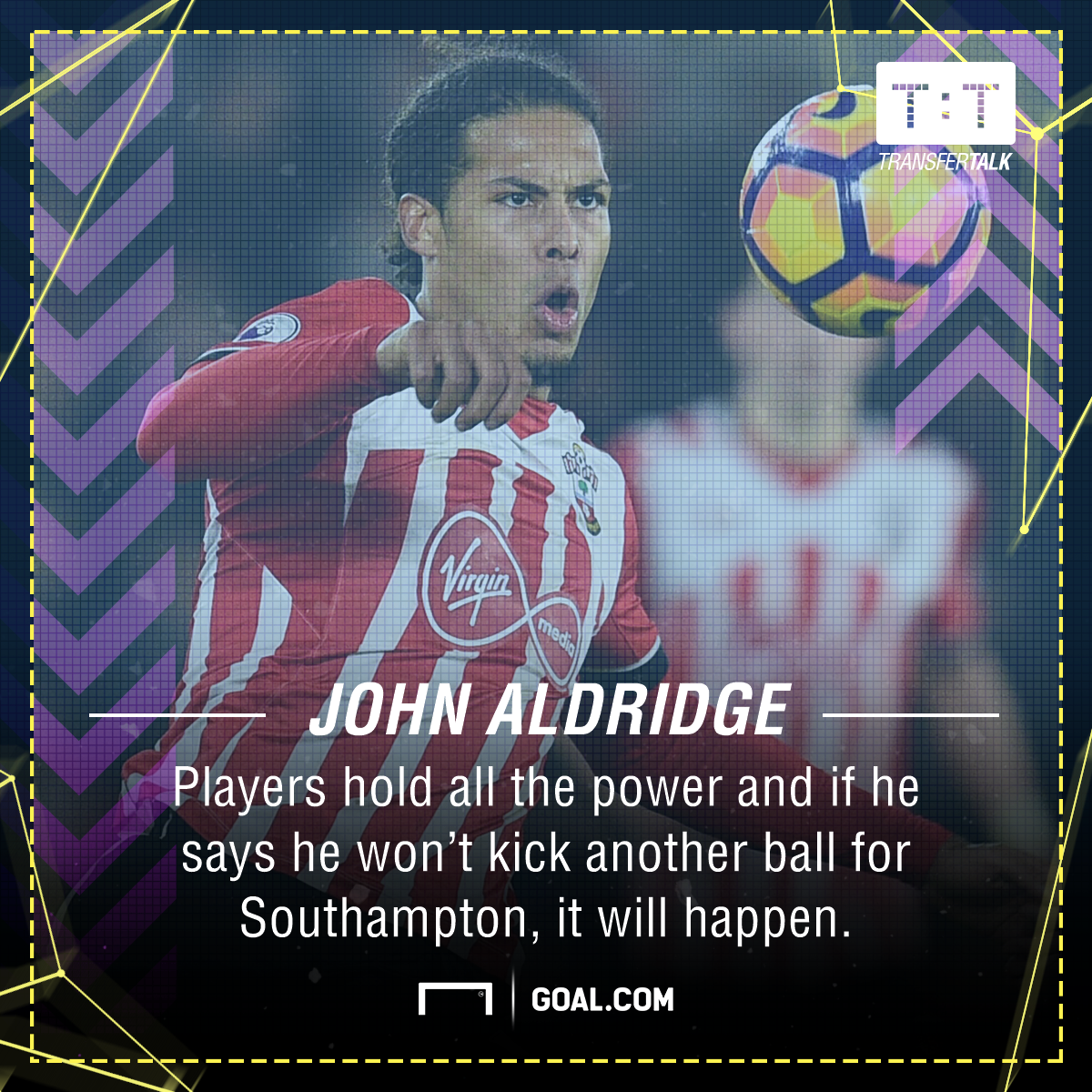 Aldo - I can't tell Virgil van Dijk to go on strike