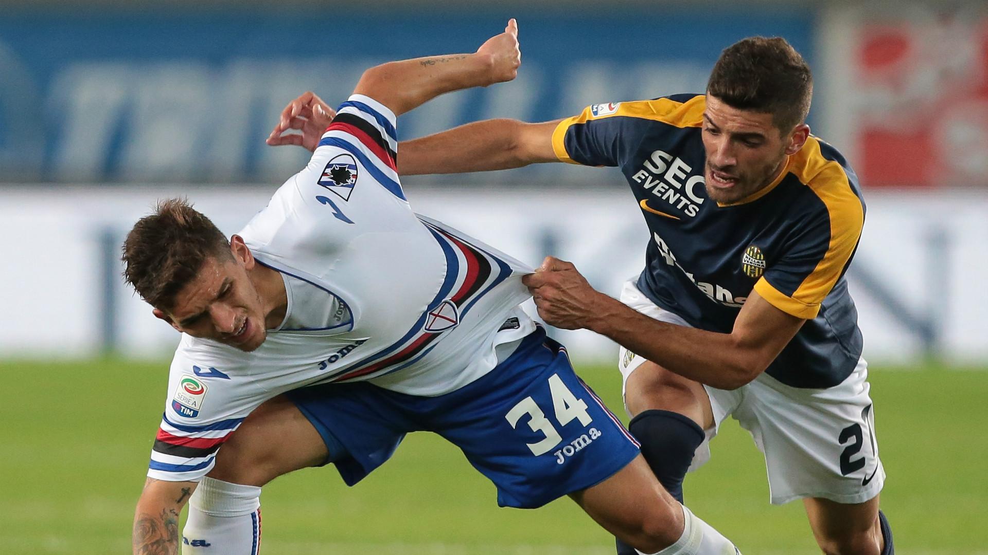 Lucas Torreira Mattia Valoti Verona Sampdoria Serie A