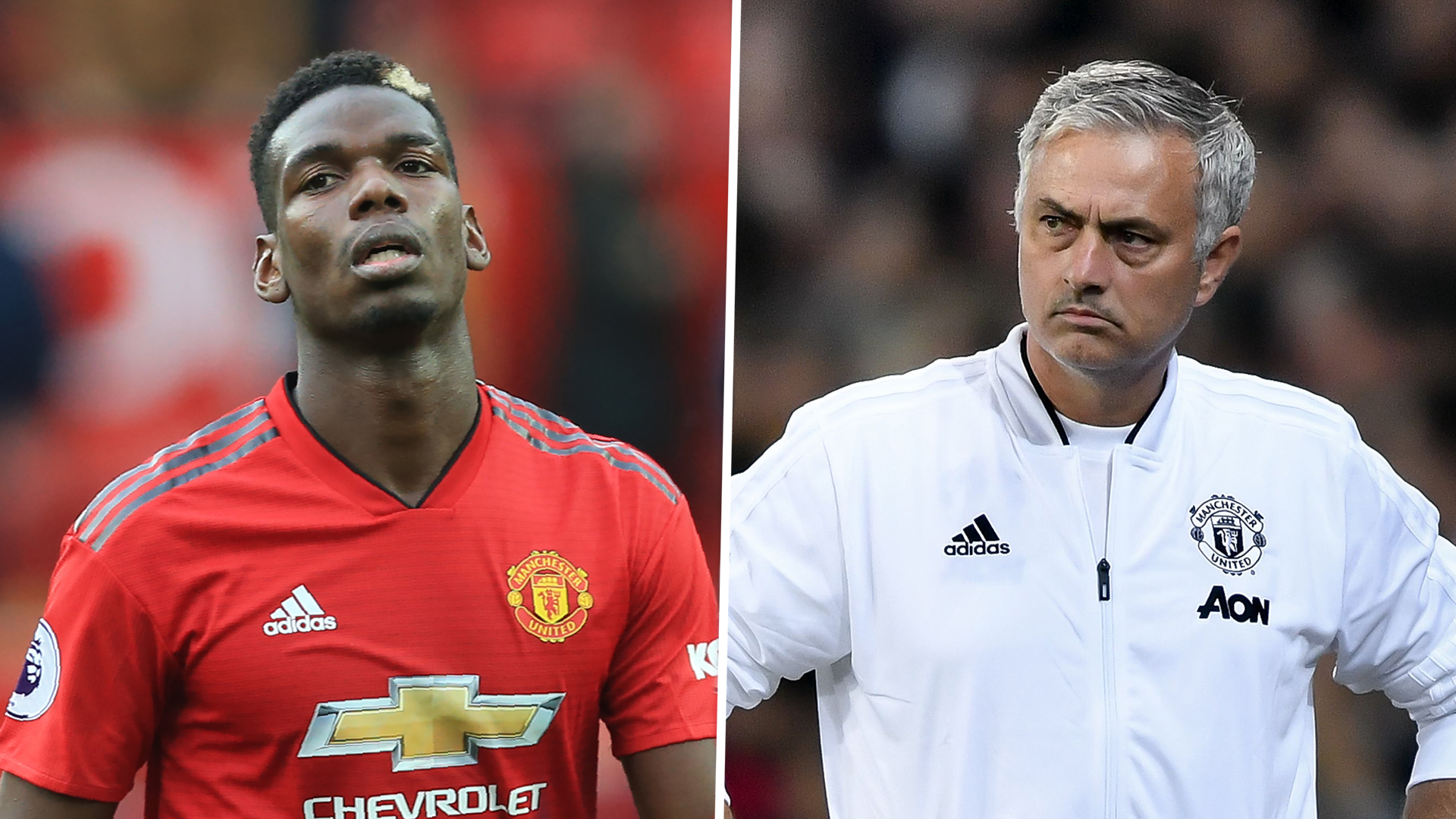Paul Pogba and Jose Mourinho have an argument at the Carrington grounds