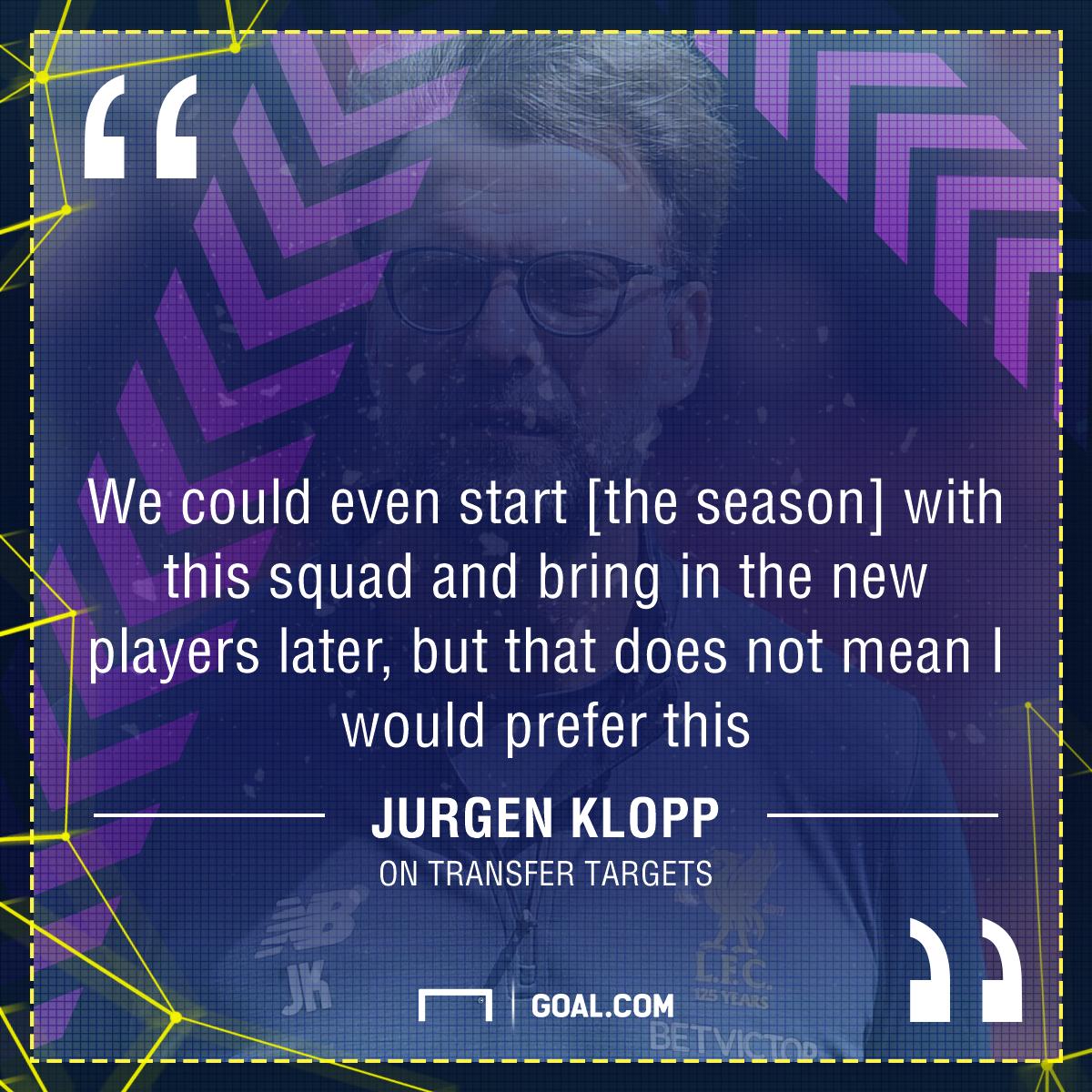 GFX Jurgen Klopp quote transfers