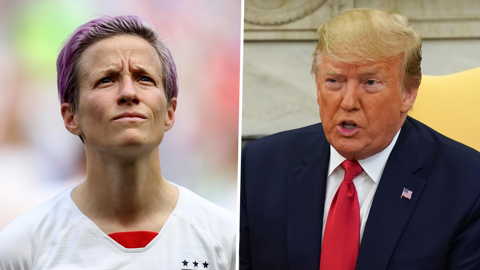 Rapinoe tells Trump: You need to do better