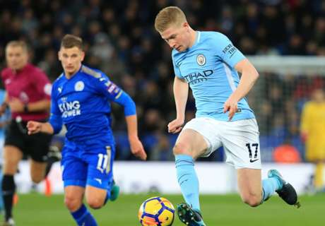 Jesus & De Bruyne strike as City down Leicester