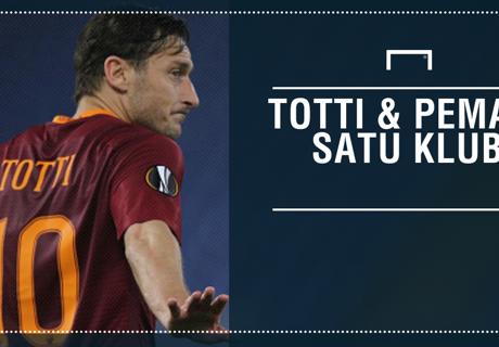 Totti & Pemain Satu Klub