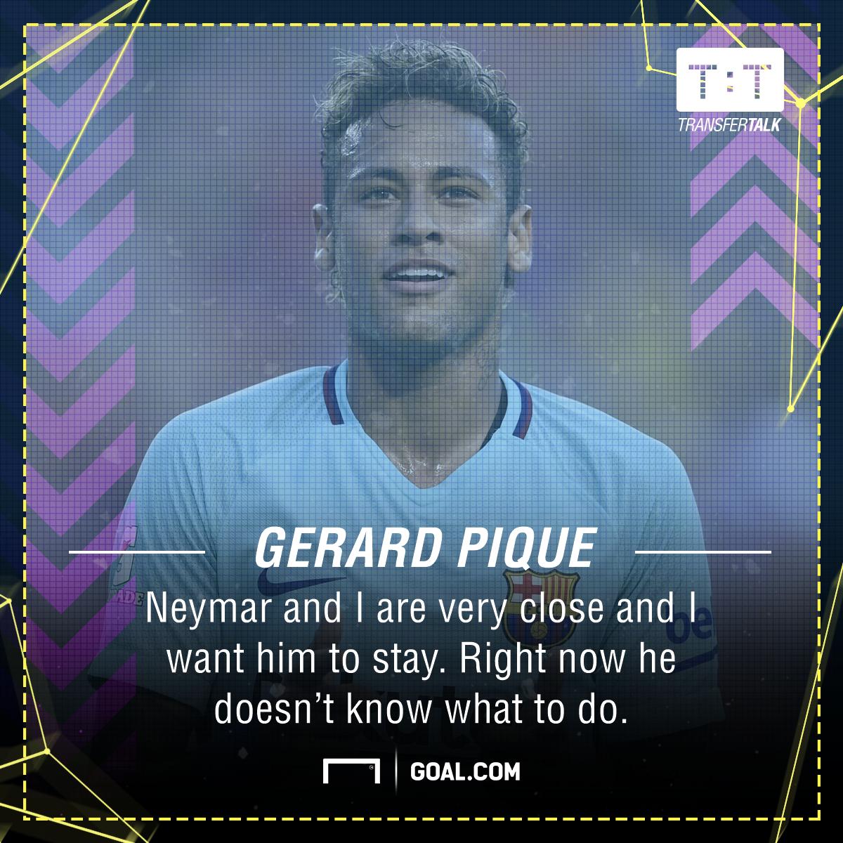 Gerard Pique Neymar Barcelona