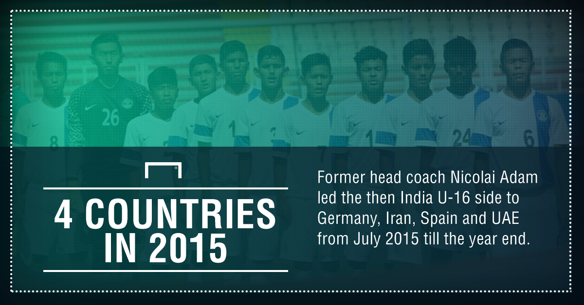 GFX India U17 exposure trips in 2015