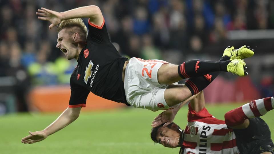 Luke Shaw Manchester United PSV 2015