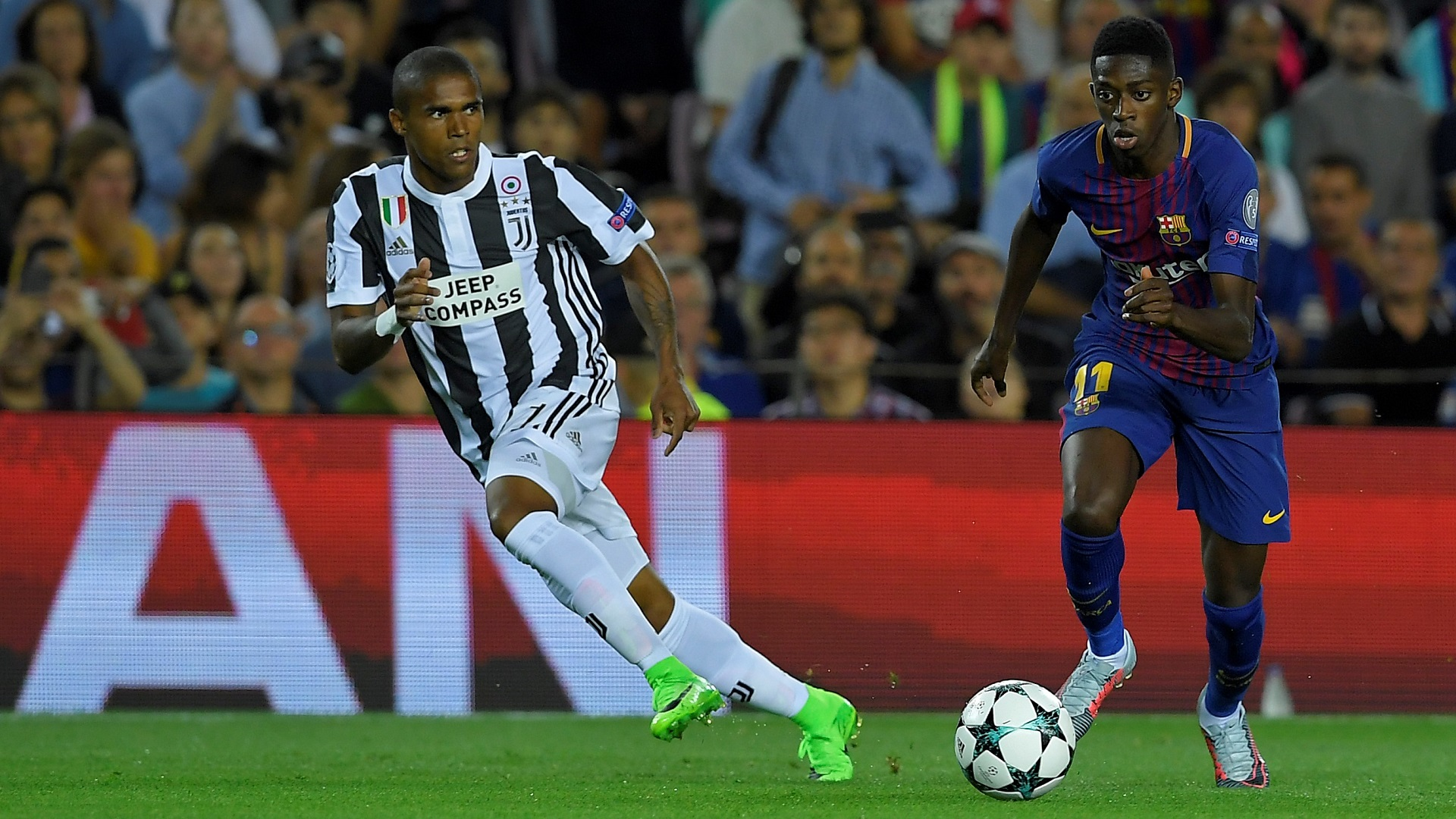 Ousmane Dembele Douglas Costa Barcelona Juventus Champions League 12092017