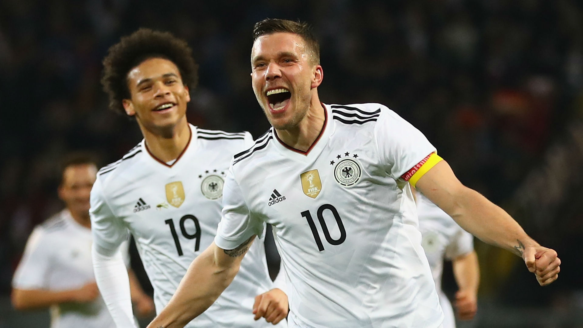 Leroy Sane Lukas Podolski Germany