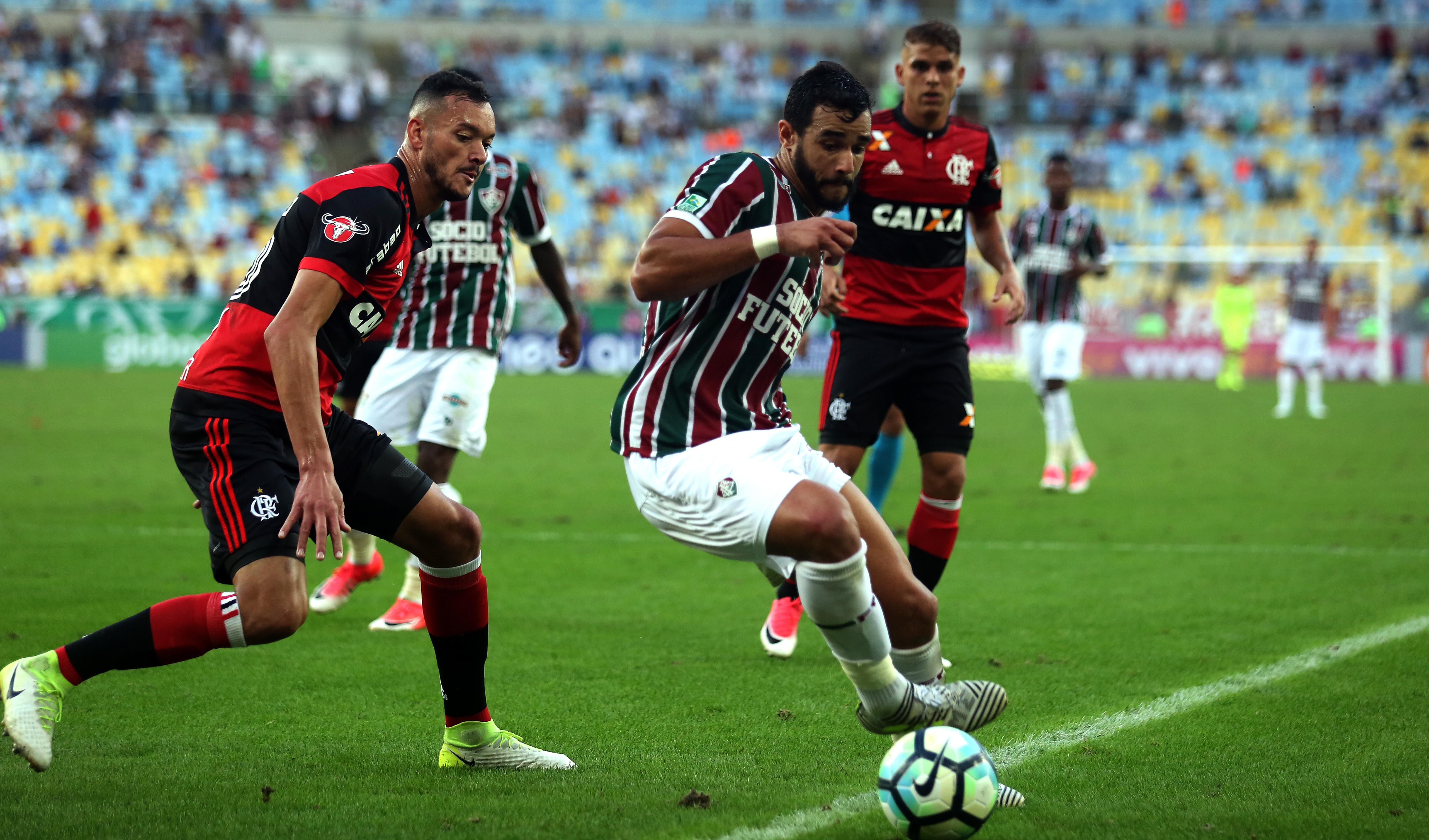 Henrique Dourado Fluminense Flamengo Brasileirão 18/06/2017