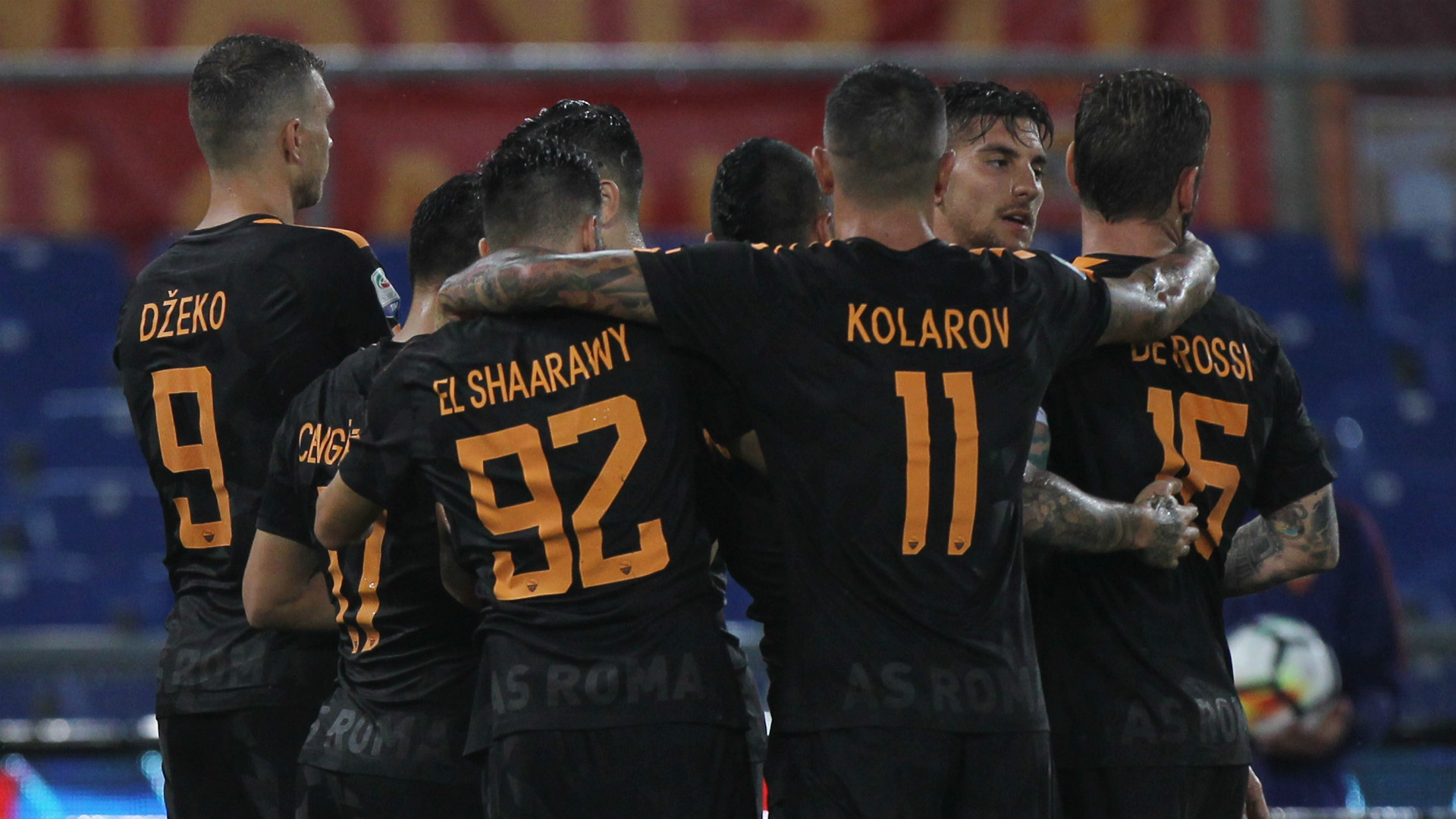Roma celebrates, Serie A, 16092017