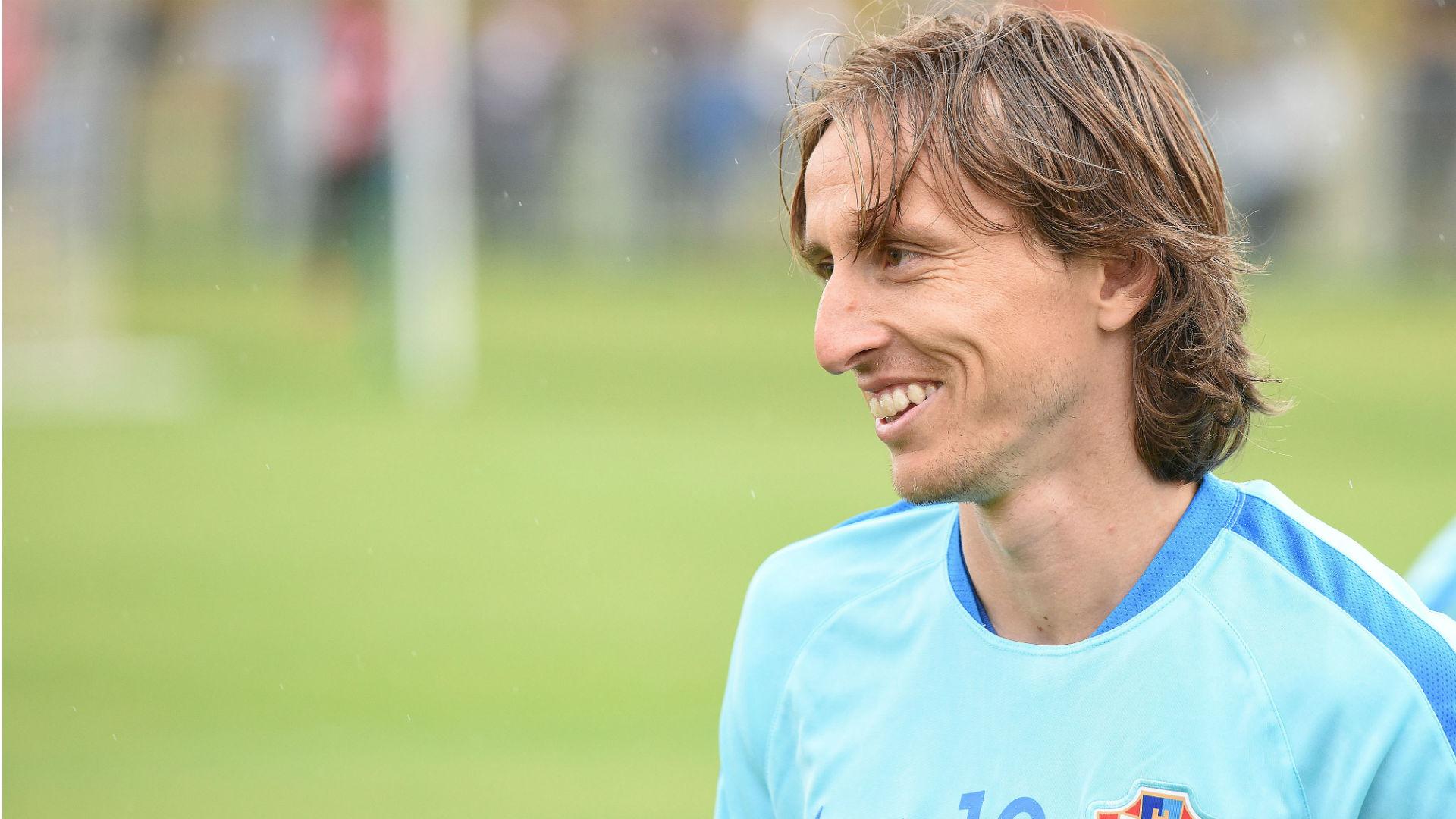 Luka Modric croatia training