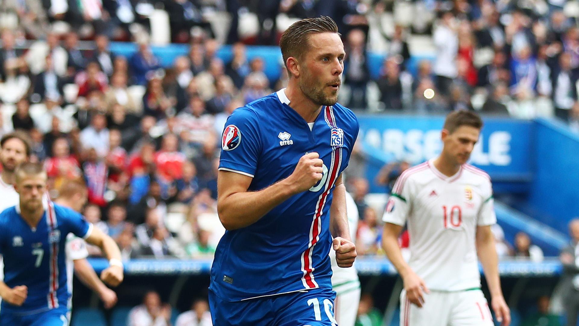 Gylfi Sigurdsson Iceland Hungary Euro 2016