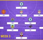 PL Team of the Week 2017-2018 สัปดาห์ที่ 3
