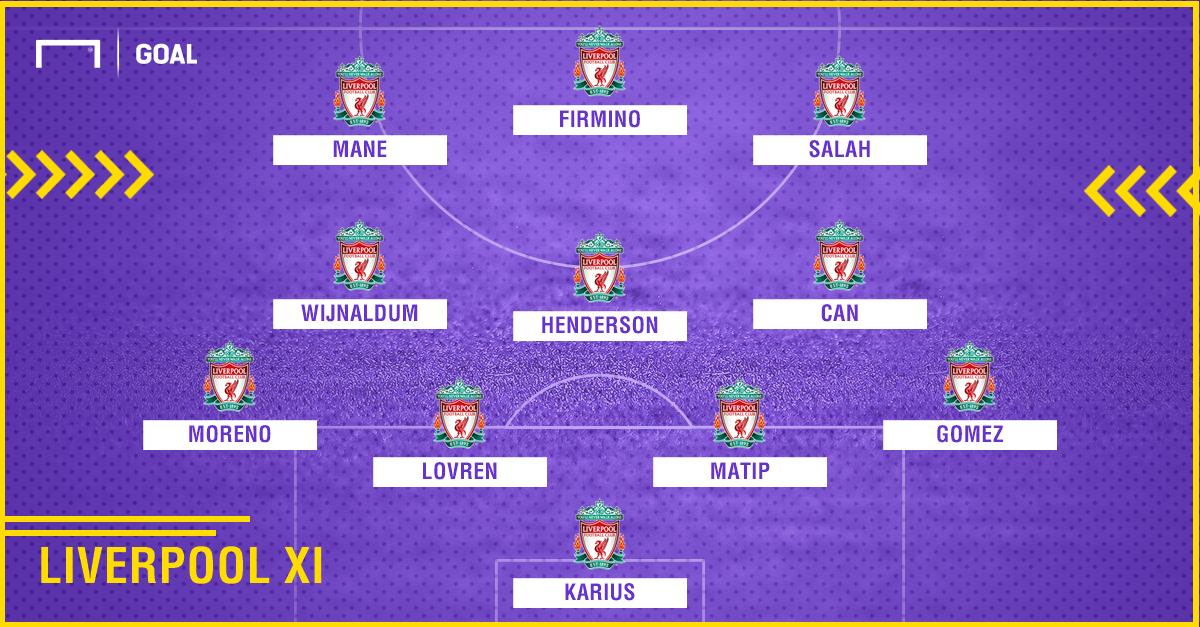 GFX Info Arsenal XI vs Liverpool 27082017