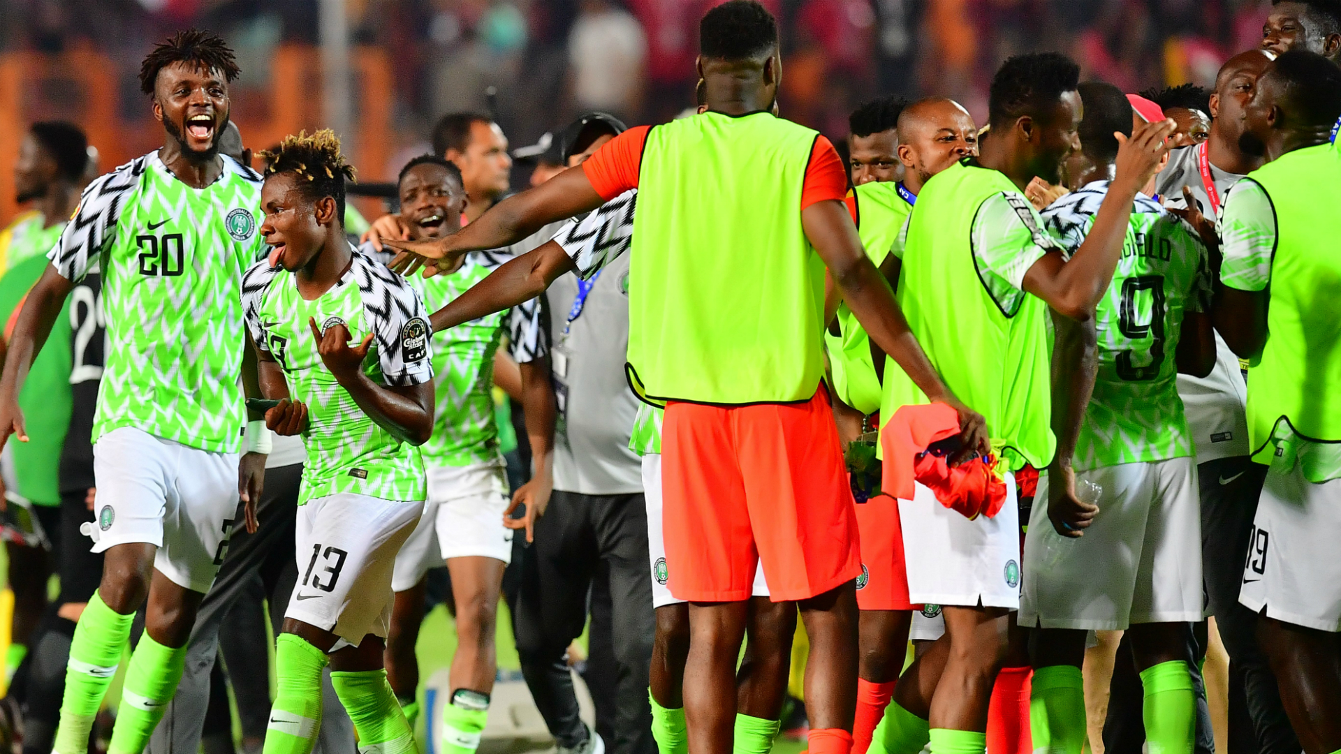 EXTRA TIME: Nigeria players react after first training session ahead of Ukraine friendly