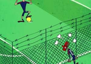 Kartun Goal Internasional 2017 - Rebutan Penalti Neymar & Cavani