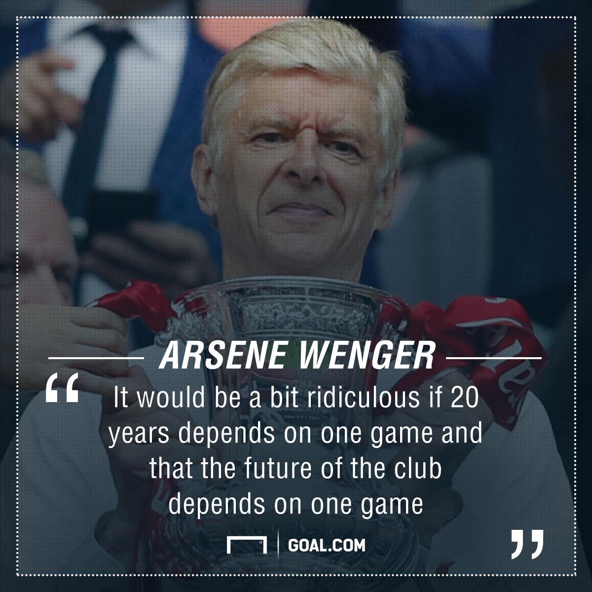 GFX Info Arsene Wenger Arsenal FA Cup