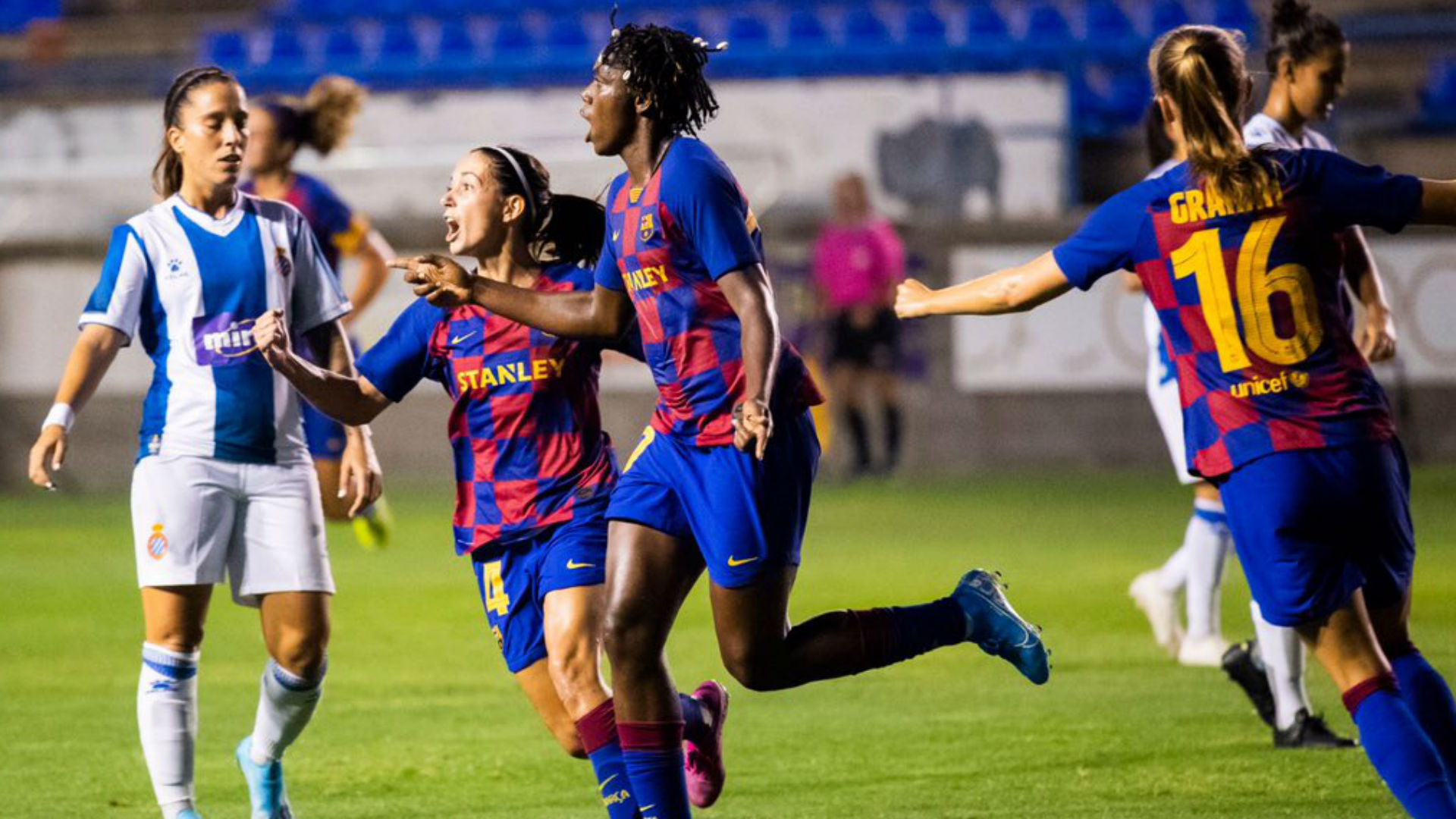 Asisat Oshoala: Nigeria striker the heroine as Barcelona pip Sporting de Huelva
