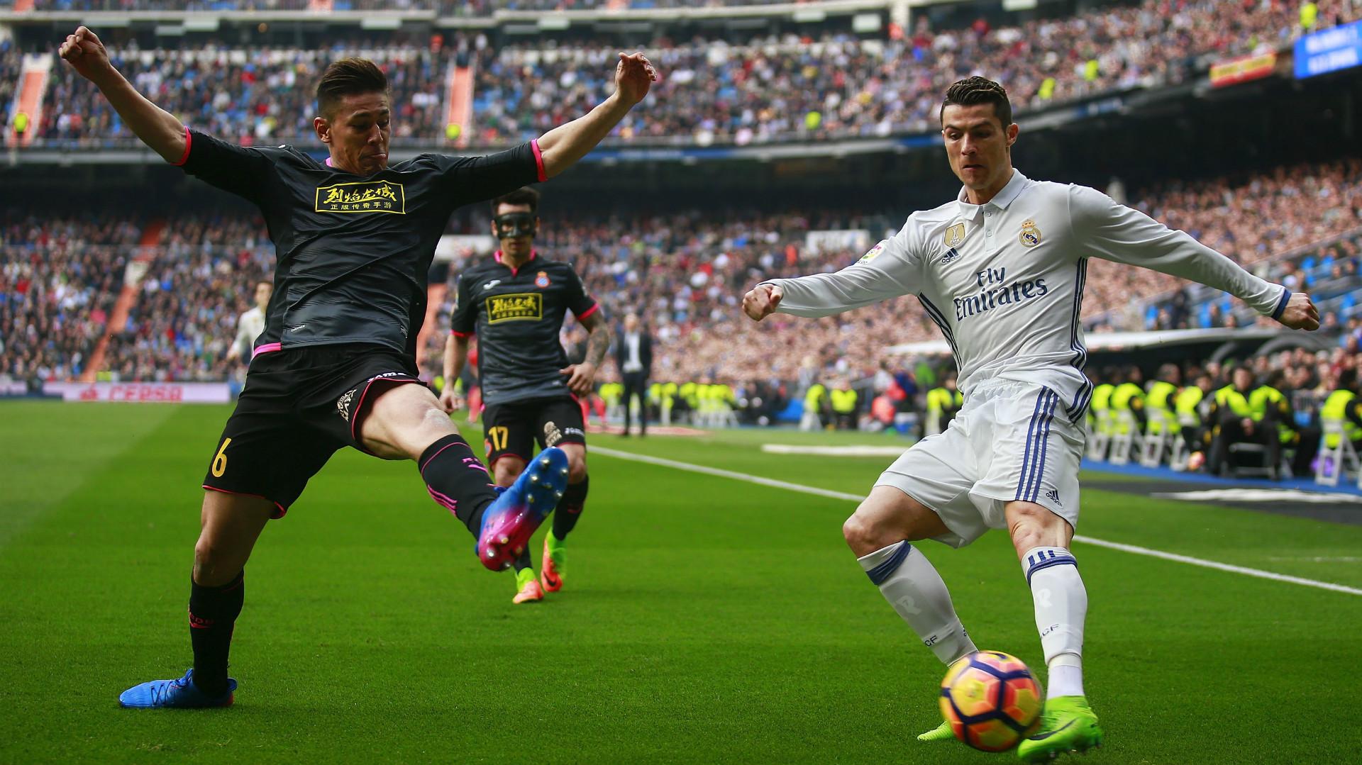 Oscar Duarte Espanyol Cristiano Ronaldo Real Madrid