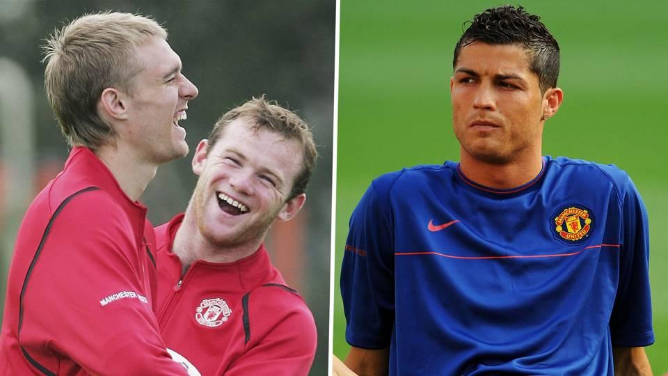 Darren Fletcher Wayne Rooney Cristiano Ronaldo Man Utd 2006