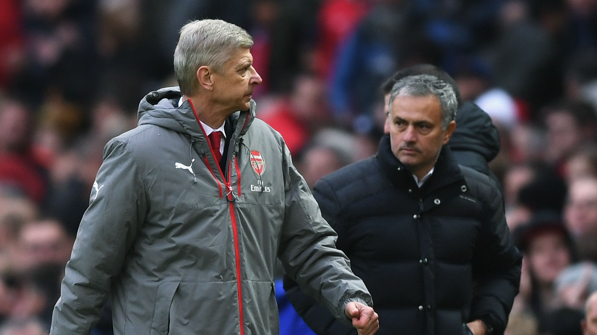 Arsene Wenger Jose Mourinho Arsenal Manchester United