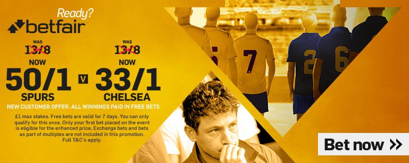 GFX Chelsea Tottenham enhanced betting