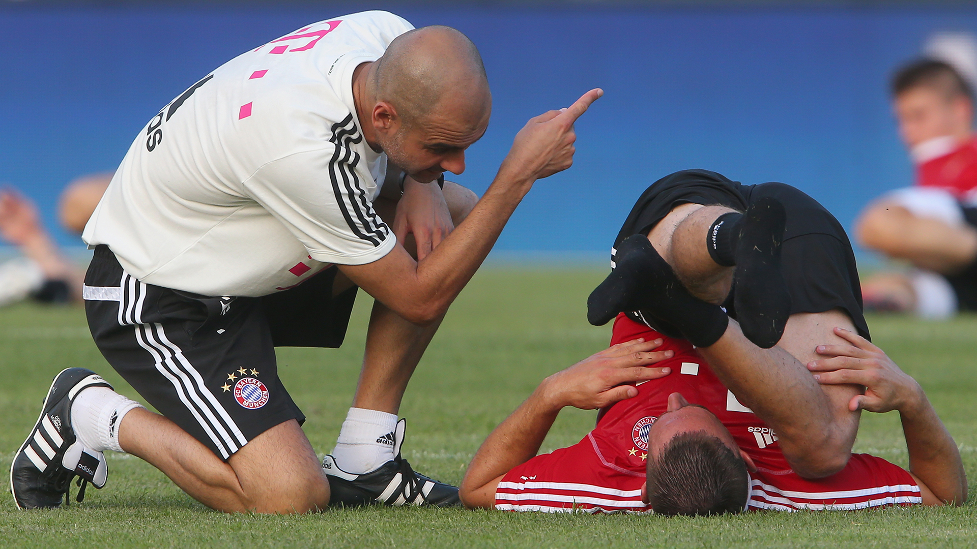 Pep Guardiola Franck Ribery Bayern Munich