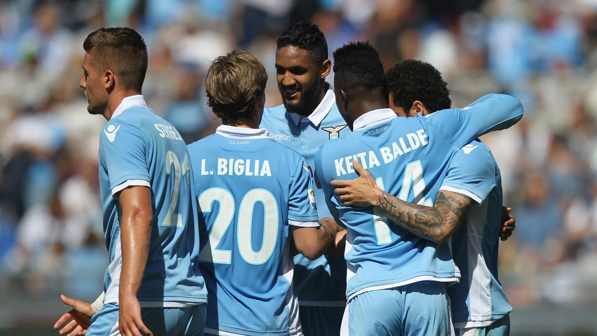 Lazio celebrating Lazio Sampdoria Serie A